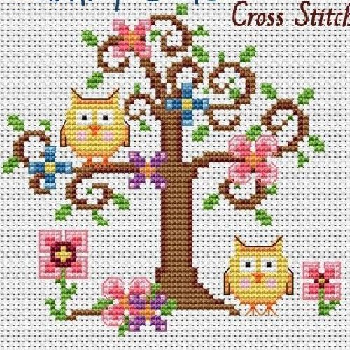 Corujas na árvore