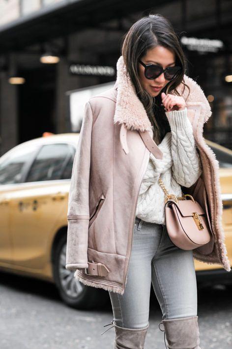Pink Shearling Jacket