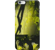 Yellow water color painted silver gelatin black and white print  of legs of female dancer analog film photo iPhone Case/Skin