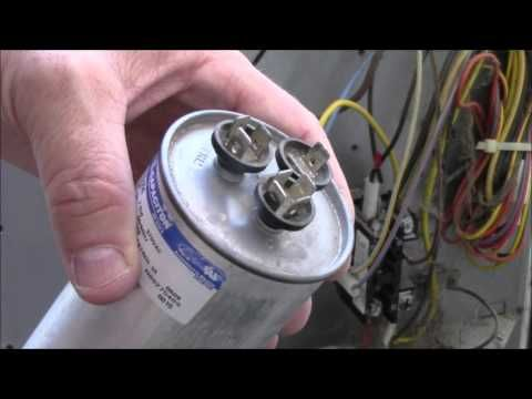 AC Fan/Compressor Not Working - How To Test /Repair Broken HVAC Run Start Capacitor Air Condition HD - YouTube