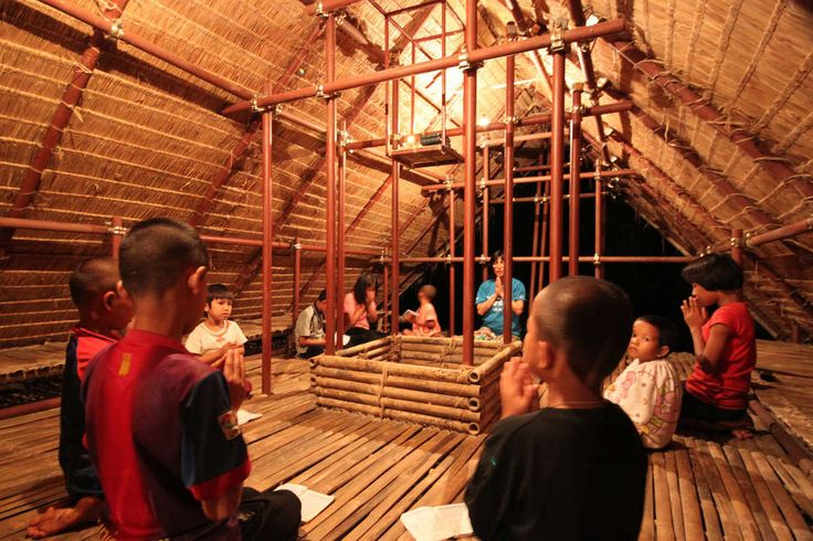 "Earthbag and Bamboo ""School Floating in the Sky"" Offers the Best of Both Worlds - Architizer"