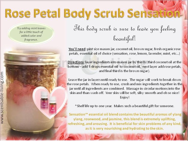 Young Living Essential Oils Body Scrub Yleo Diy Recipes