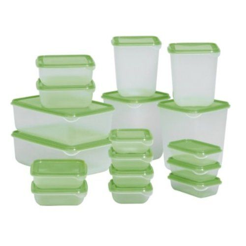 IKEA PRUTA Plastic Container / Food Storage Containers 17 Piece Set Ikea http://www.amazon.co.uk/dp/B007POZ1O4/ref=cm_sw_r_pi_dp_H77lwb0G56BXH