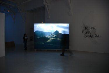 """Jocelyn Cottencin, """"Paysage / Alors, il y a cette île"""", 2007. Photo Benoît Mauras."""