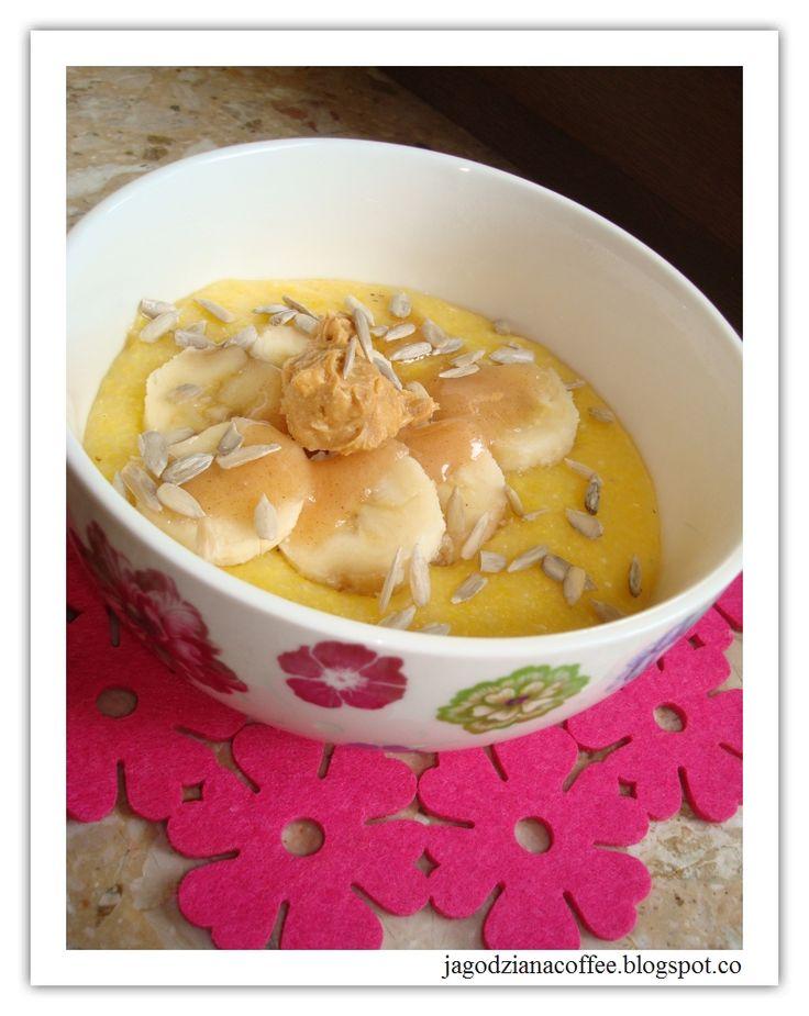 Jagodziana Coffee - jak miło rozpocząć dzień: 66. Kaszka kukurydziana z bananem i masłem orzechowym