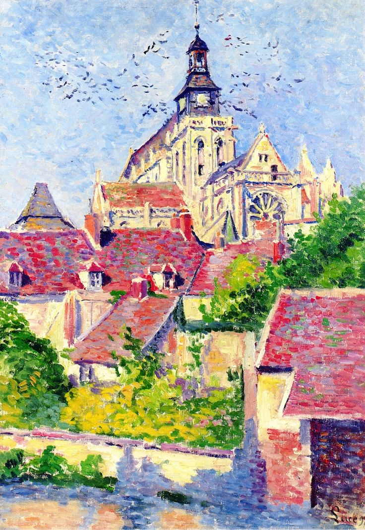Maximilien Luce - Gisors Cathedral, View from the Fossé aux Tanneurs, c.1897.  (French, 1858-1941).