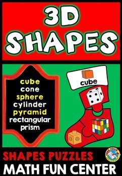 #CHRISTMAS #MATH #STOCKING #PUZZLES: #3D #SHAPES