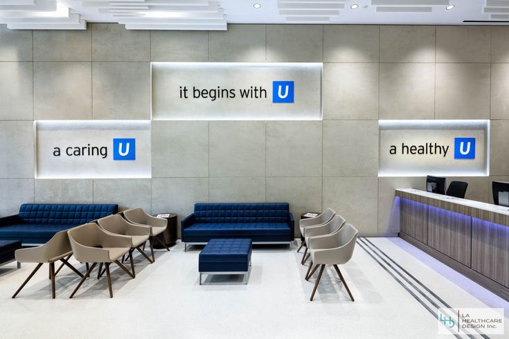 UCLA primary care center lobby and reception area. UCLA ...