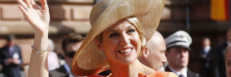 Königin Maxima der Niederlande winkt