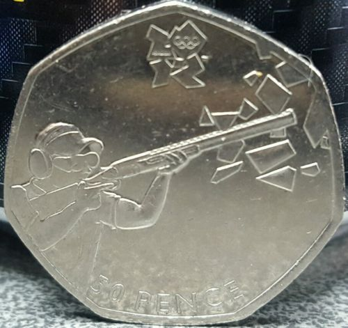 Rare #olympic #shooting 50p coin #2011,collectable,  View more on the LINK: http://www.zeppy.io/product/gb/2/142263778860/