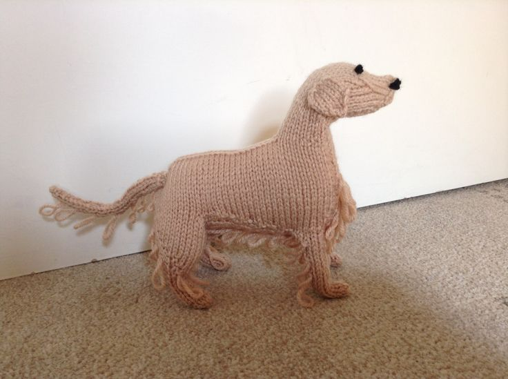 Knitted Golden Retriever from Knit Your Own Dog
