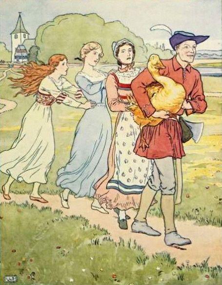 De drie dochters van de waard zitten vast. Zwaan kleef aan.