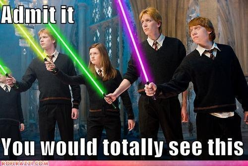 Haha...yep!: Crossover, Harrypotter, Movies, Star Wars, Funny Stuff, Harry Potter, Totally, Starwars