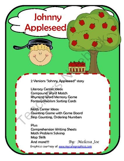 an introduction to the life of johnny appleseed Johnny appleseed was an important historical figure, well known for planting  apple  nice little intro to johnny appleseed's life and mission - a story told by.