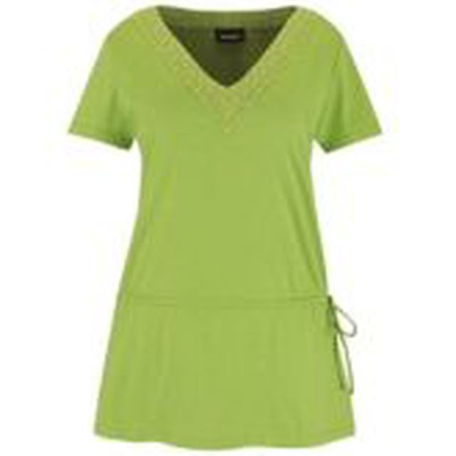 Dress for Your Apple Body Type: The Avenue.com Beaded Tunic flatters apple body types by skimming over the midsection.