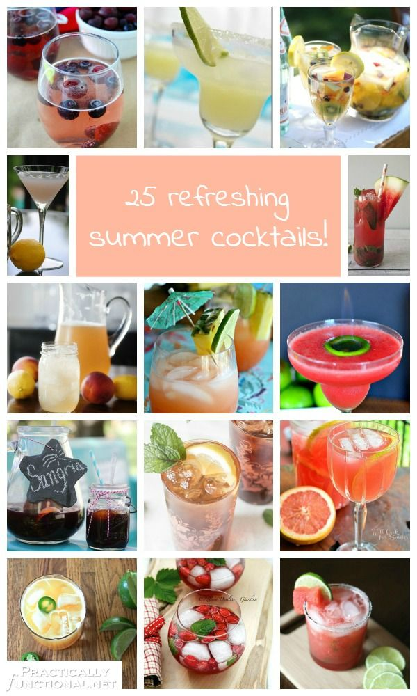 Need a nice cold drink to beat the heat? Check out these 25 refreshing summer cocktails!