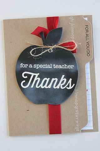 Teacher Thanks Card by Heather Nichols for Papertrey Ink (April 2015)
