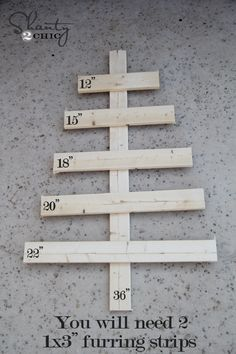 make with little wood pcs as the numbers? or pinecones?
