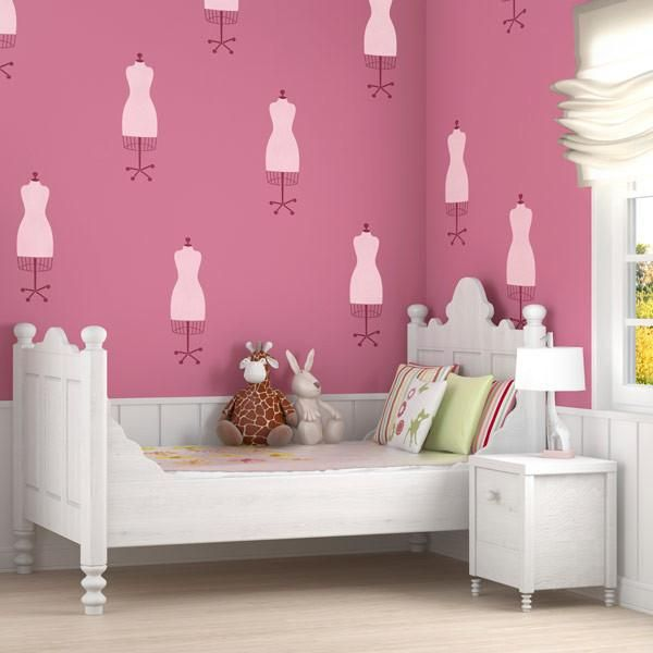 Dress Form Wall Art Stencils Fpr Craft Room Or Girls Room Decor   Royal  Design Studio Part 67