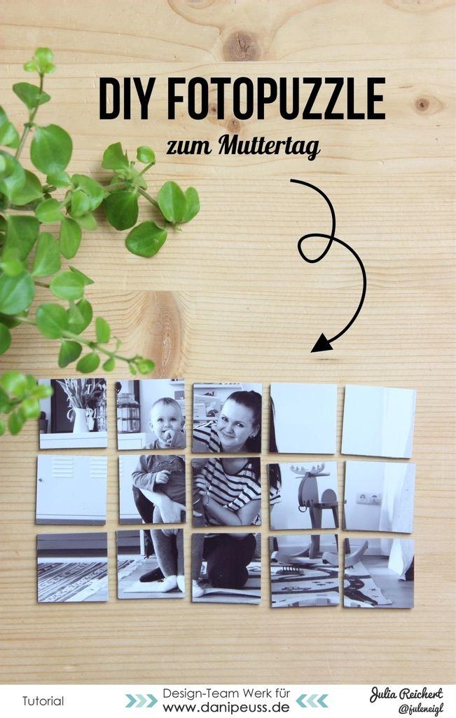 DIY Fotopuzzle als Geschenk zum Muttertag | Julia Reichert für danipeuss.de | www.jayjaymakes.com