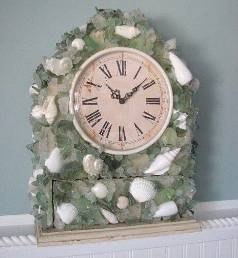 84 best sea shells images on pinterest shells sea for Seashell clock