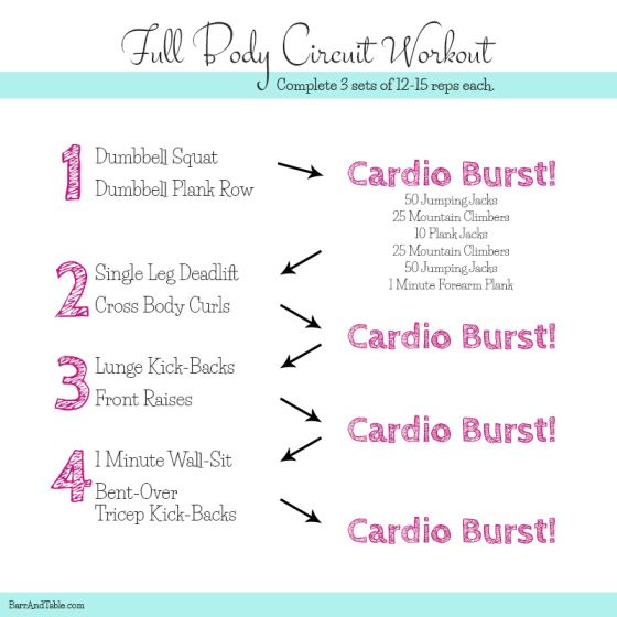 NO EXCUSES Do-Anywhere Workout Roundup like this Circuit Workout