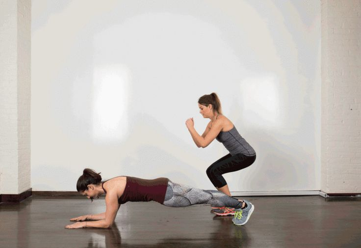 29. Plank Hold and Jump http://greatist.com/fitness/35-kick-ass-partner-exercises