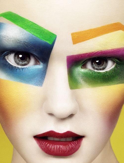 Institute magazine editorial bright makeup