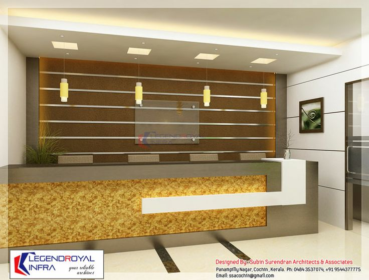 Nice Way To Break Up 48 Height Reception Counter Office Interior DesignInterior
