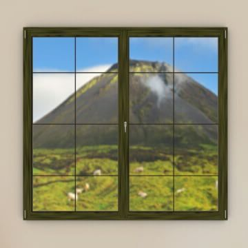 Windows Of Portugal - Day 8 | 8/12/2015 Do you know how many days are left until Christmas? 17!  From today's Advent Calendar you can see Pico, in the Azores: http://bit.ly/1TkFzYr. #WindowsOfPortugal