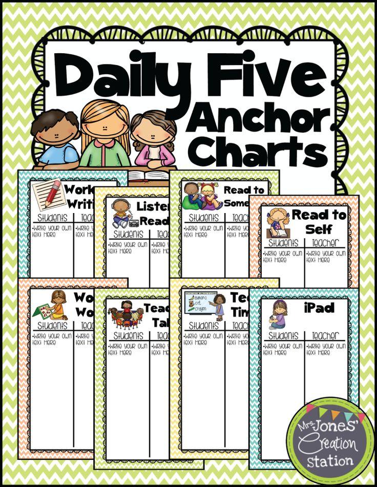 *FREEBIE FRIDAY* Daily 5 Anchor Charts - Mrs. Jones' Creation Station