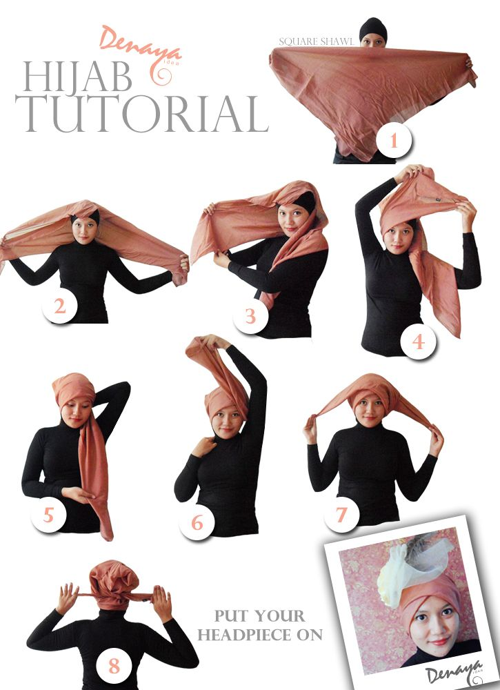 Denaya Idea: Hijab Tutorial, Turban Style