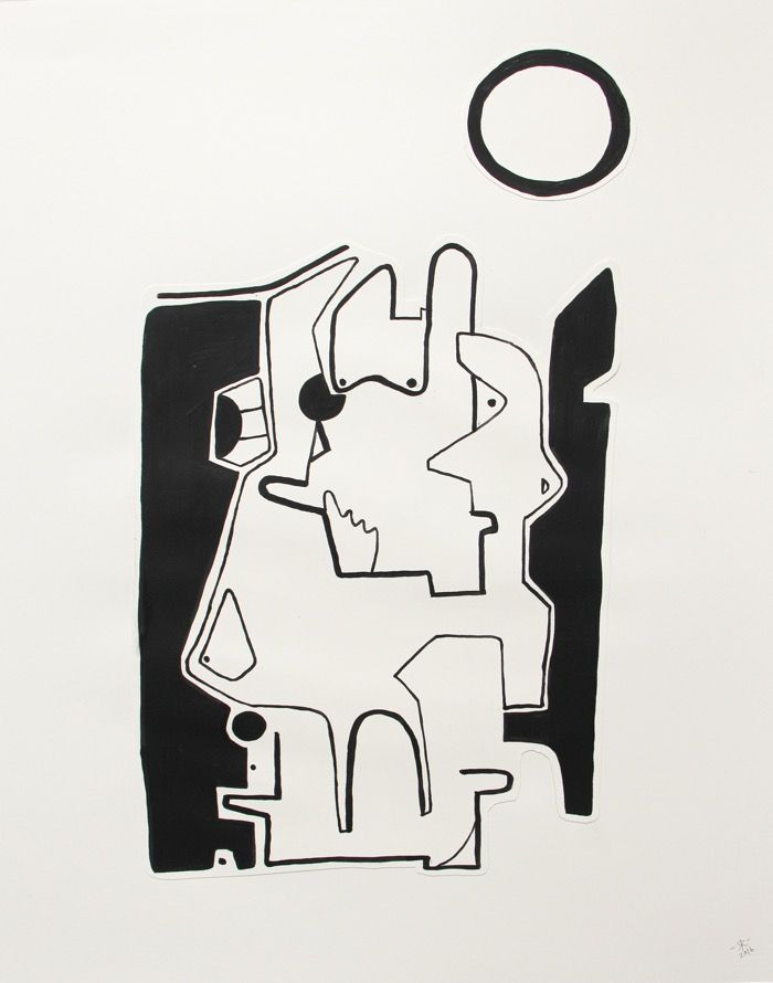 Renée Rossouw Threesome Gouache on Paper, Collage 53.5 x 41.5 cm R3 400
