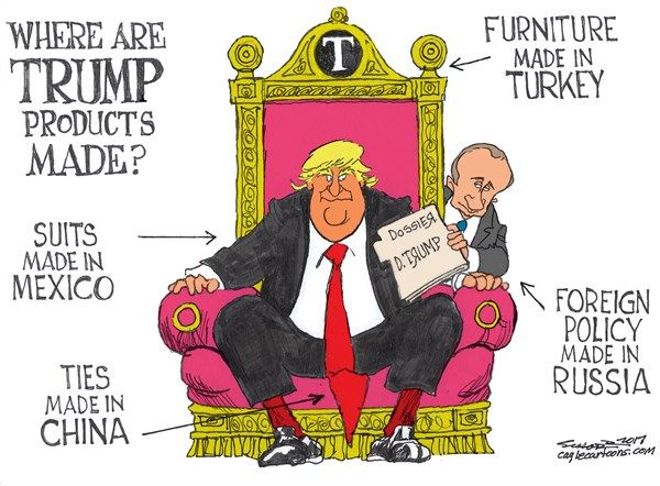 Image result for cartoon about trump products made in foreign countries