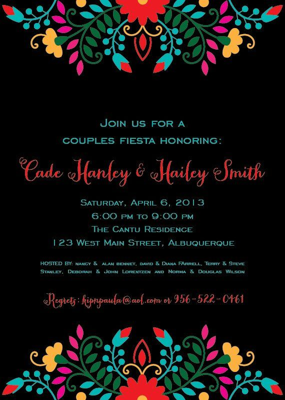Invitaciones Fiesta Mexicana Para Imprimir