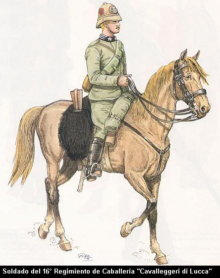 "Italo -Turkish War 1911-12,  16th Cavalry Regiment ""Cavalleggeri di Lucca"""