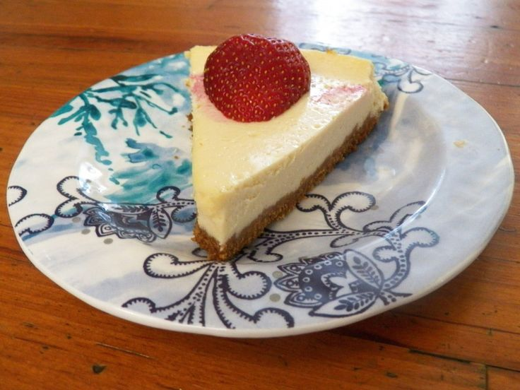 Greek Yogurt Cheesecake | A Baking Girl. No cream cheese at all.