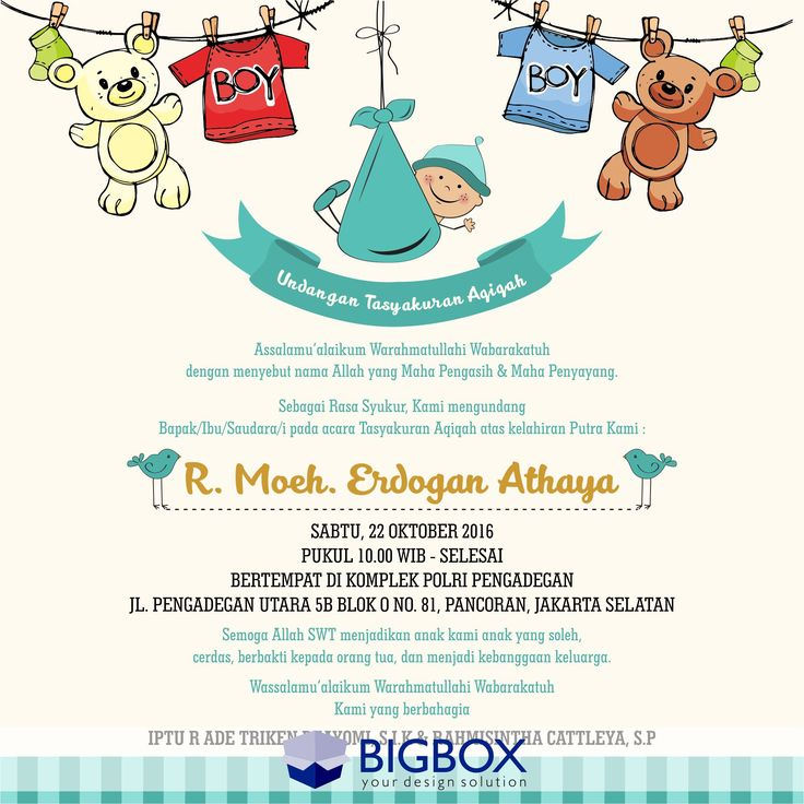 14 best aqiqah tasmiyah birthday images on pinterest shower invitations stopboris Image collections