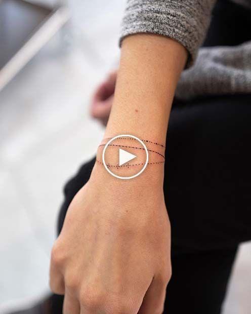 21 idées de tatouage de bracelet qui ressemblent à des bijoux   – Cute Tattoos