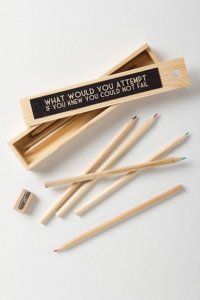 Resolution Pencil Set  #anthropologie