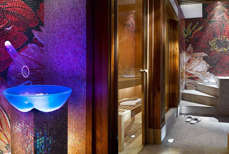 En suite spa at the private penthouse apartment at Hotel de Charme Les Airelles