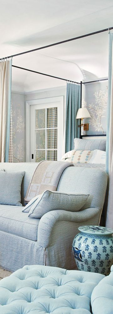 Bedroom by Interior Designer Mark D. Sikes