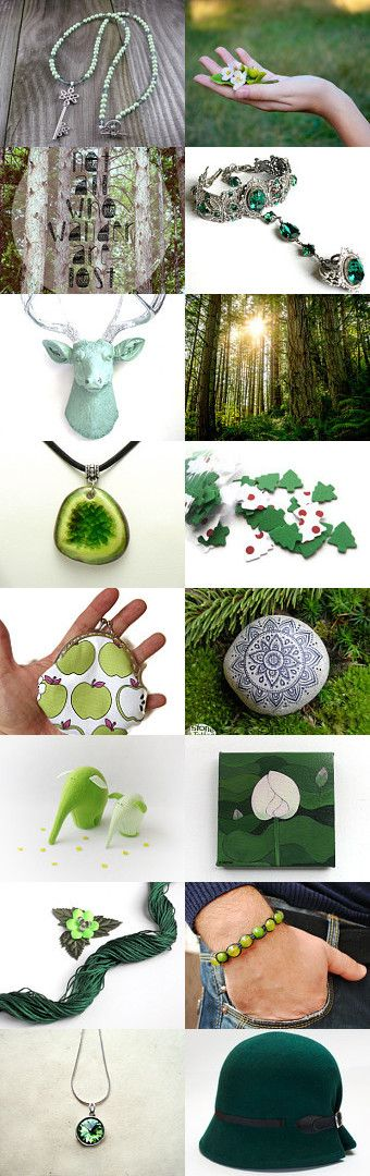 One key in the forest, two elephants and a green hat... by Bibe Jewelry on Etsy--Pinned with TreasuryPin.com