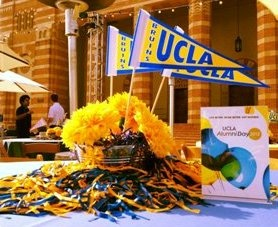 Great centerpieces at UCLA Alumni Day. Go Bruins!