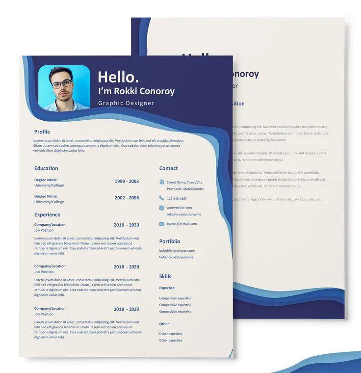 Rokki Conoroy Cv Resume Template In 2020 Cv Design Template Cv Resume Template Resume Template
