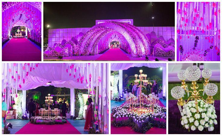 Reception | Gujarati wedding | Grand entrance | Big fat Indian wedding | Flower decoration | Ahmedabad | Wedding Photography