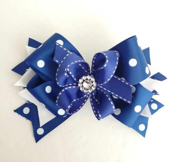 Navy Blue Hair Bow / Hair Bows / Navy Blue / Baby Accessories / Fourth of July Hair Bows / School Hair Bows / Hair Accessories / Big Bows on Etsy, $6.50