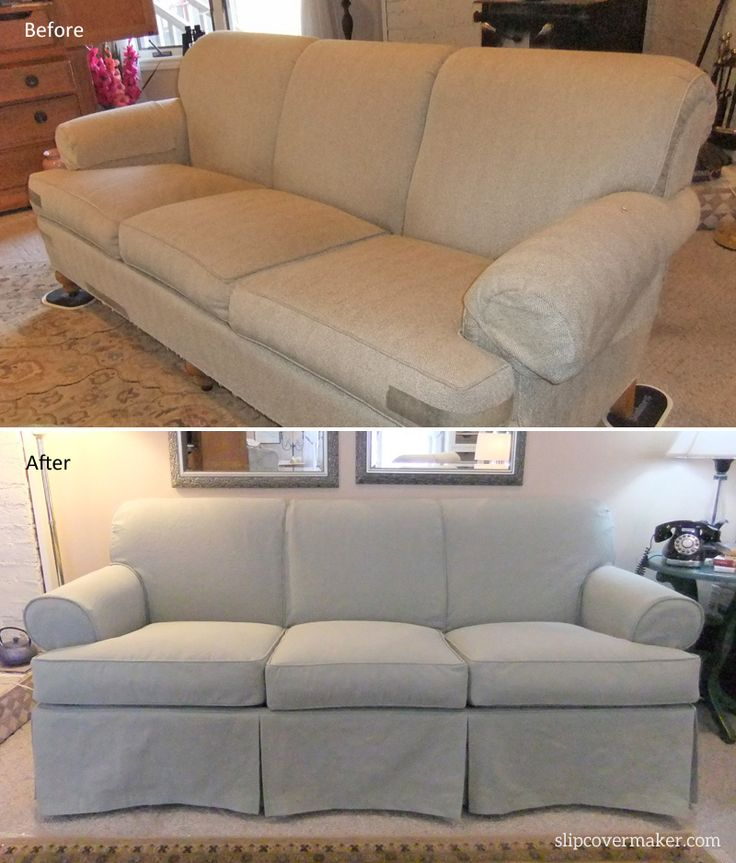Cotton Poly Canvas Slipcover For A Kitty Clawed Sofa Love