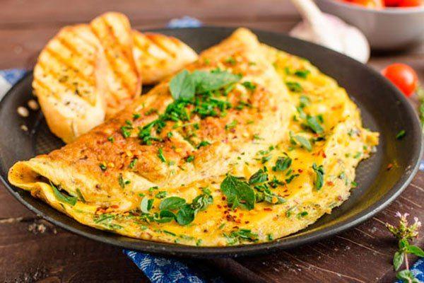 Mushrooms Omelet