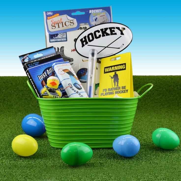 81 best sports easter baskets images on pinterest easter gift hockey easter basket hockey negle Gallery